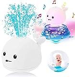 Generisch Badespielzeug, 2-in-1-Induktionsspray-Wasserspielzeug, mit LED-Licht + Musik Kinder...