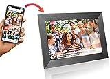 Grouptronics UK Gallery10 WiFi Digital Photo Frame - 10 Inch, Send Photos or Video to Frame Via App Worldwide - Touch Screen, Auto Sleep, Auto Rotate - Landscape or Portrait, 16GB - Black