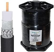 Perfect Vision RG6 Coax, Single RG6 Solid Copper, Black 1000FT EnviroReel