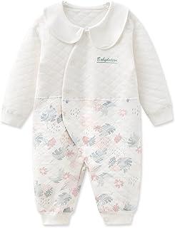 الوليد الطفل بنين فتاة اللون مطابقة رومبير ارتداءها قطعة واحدة بذلة مع مجموعة مريلة القابلة للإزالة (Color : White, Size :...