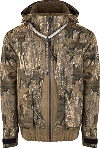Amazing Deal Drake Waterfowl Guardian Elite Boat & Blind Jacket - Shell Weight Realtree Timber Mediu...