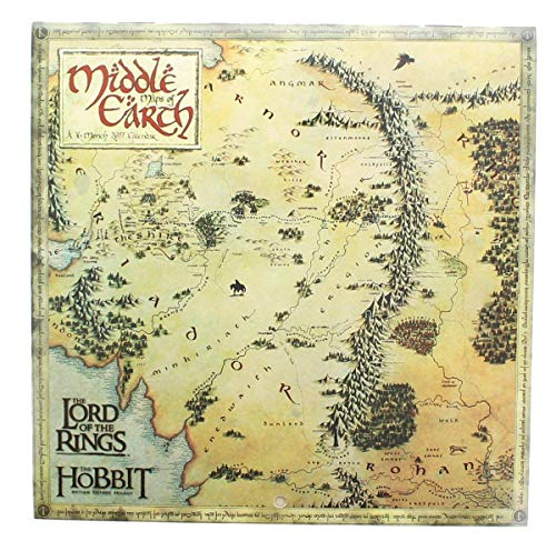 LORD OF THE RINGS - MIDDLE EARTH MAPS - 2017 MINI WALL CALENDAR