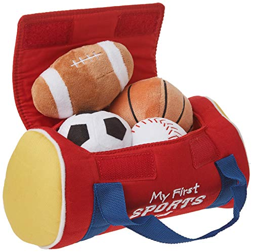 "Baby GUND My First Sports Bag Stuffed Plush Playset, 8"", 5 pieces"