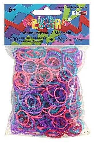 Rainbow Loom Gummibänder Mix Meerjungfrau