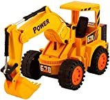 VILHOZ Toys Wireless Remote Control Rechargeable LED Flash Lights JCB Truck Toy Yellow for Kids. (JCB)