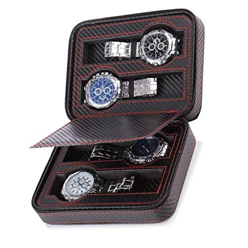 FJXJLKQS Caja de Reloj 4 Relojes Hombres Mujeres Caja de Almacenamiento Caja de Reloj Caja de Almacenamiento de 4 bits de Reloj para Almacenamiento