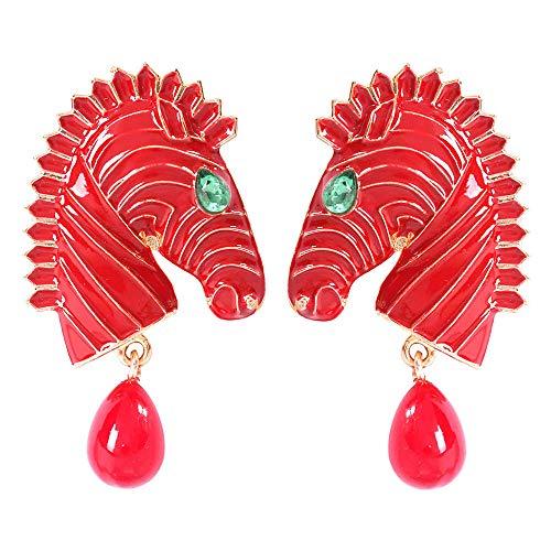 Oreille Bijoux Cadeau Femme Drop Oil Earrings Pony Set Diamond Earring Alloy