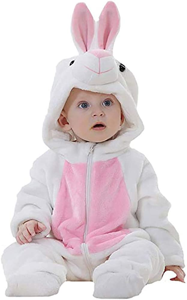 Unisex Baby Flannel Romper Animal Same day shipping Sale SALE% OFF Costume Onesie Hooded Cartoon