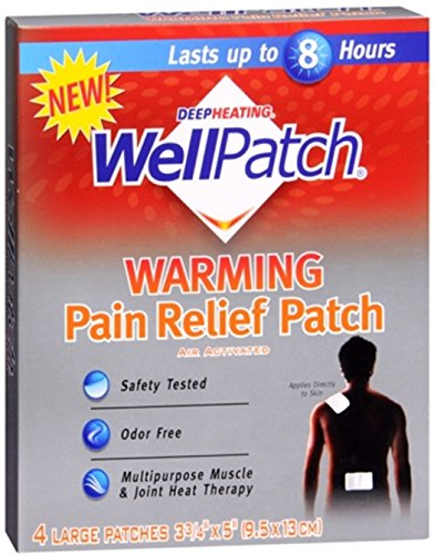 WellPatch Warming Pain Relief Patch 4 Each (Pack of 5)