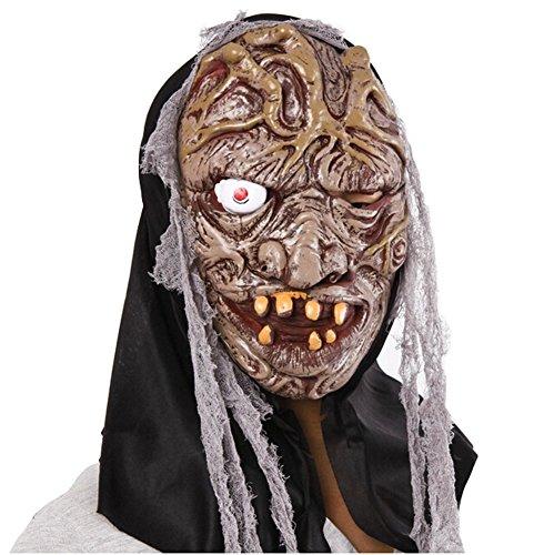 Blancho Faisant la Grimace Masque de Terreur fête d'halloween Masque Mascarade Masque Cosplay Accessoire