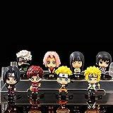 Huhu Naruto Uchiha Nendoroid Anime D Personajes de acción - Colección de Figuras de PVC de 6 cm Deco...