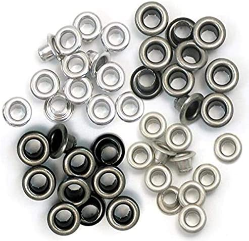 We R Memory Keepers - 60 Standard Cold Metal Eyelets for Scrapbooking - 15 of Each Color