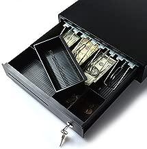 Cash Register, AGPtek Electronic Heavy-Duty Register Drawer,RJ11 Phone-Jack Pos Cash Drawer Under Counter with Key-Lock, 4 Bill/2Coin for American Standard,1 Removeble Check/Bill Slot