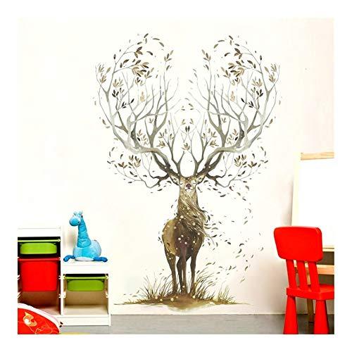 HOUSEHOLD Nordic-Art Kreative Wand-Aufkleber 3D Schlafzimmer Wandmalerei Kinderzimmer Aufkleber-Raum-Wand-Papier-Dekorationen Selbstklebende Tapete