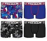 FREEGUN Lot 4 Boxers Homme Microfibre (L, Coupe du Monde Rugby)