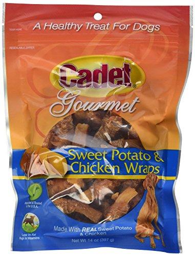 Cadet Gourmet 01307 14 oz Sweet Potato & Chicken Wraps Dog Treats - Quantity 2 bags