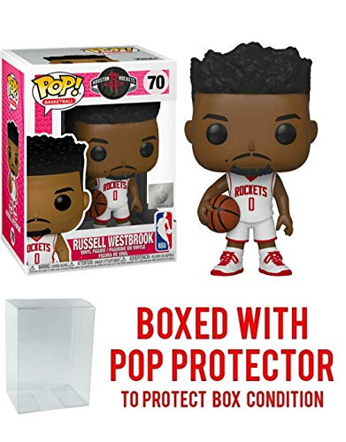 Russell Westbrook Houston Rockets White Jersey #70 Pop Sports NBA Action Figure (Bundled with Pop Protector to Protect Display Box)