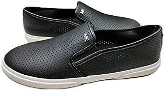 Michael Michael Kors Boerum Double Gore Lasered Leather Slip-on Sneaker Black (7, Black)