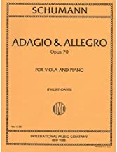 Schumann, Robert - Adagio and Allegro, Op. 70. For Viola and Piano. by International Music