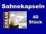 40 Stück Liss Sahnekapseln, geeignet für handelsübliche Sahnebereiter von Liss, Mosa, Kayser, isi