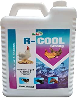 REFIT ANIMAL CARE - Electrolytes Supplement for Instant Energy for Poultry, Cattle and Livestock Animals (R-Cool 5 LTR.)
