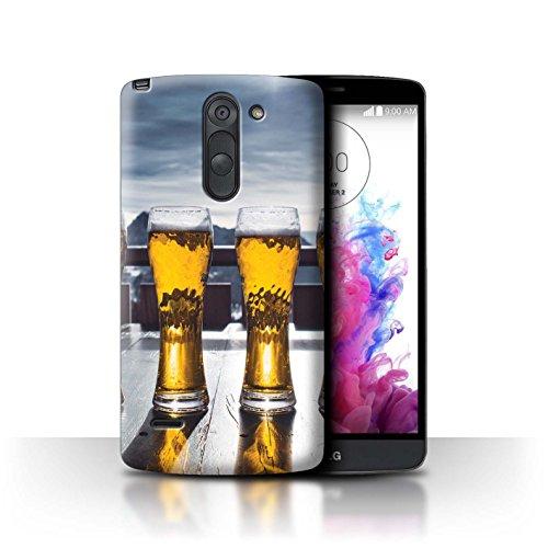 Stuff4® Custodia/Cover/Caso/Cassa Rigide/Prottetiva Stampata con Il Disegno Sciare/Snowboard per LG G3 Stylus/D690 - Apres/Capanna di Sci/Birra