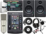PreSonus ioStation 24c 2x2 USB-C Audio Interface and Production Controller with Studio One 5 Artist Software Pack and Eris E3.5 Pair 2-Way Monitors and Professional Microphone Kit