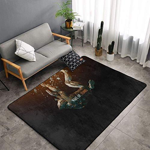 xinping Warframe - Alfombra moderna ultra suave para interiores, para salón, dormitorio, habitación de los niños, alfombra decorativa para el suelo, 39 x 60 pulgadas