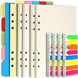 Teenitor - Accesorios recargables para cuaderno A5, 2 paquetes de papel rayado, 1 juego de...