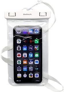 オウルテック 防水ケース IPX8規格 ドライバッグ ネックストラップ付き 【iPhone XS Max サイズまで対応】 ホワイト OWL-WPCSP15-WH