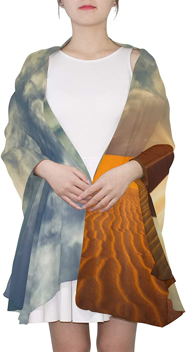 Beautiful Desert In The Sunset Unique Fashion Scarf For Women Lightweight Fashion Fall Winter Print Scarves Shawl Wraps Gifts For Early Spring
