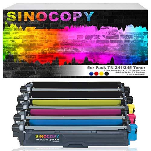 5 SinoCopy XXL Toner für Brother TN-241 TN-245 DCP-9020 CDW HL-3140 3150 3170 CW CDN CDW MFC-9130 9140 9330 TN241 TN245