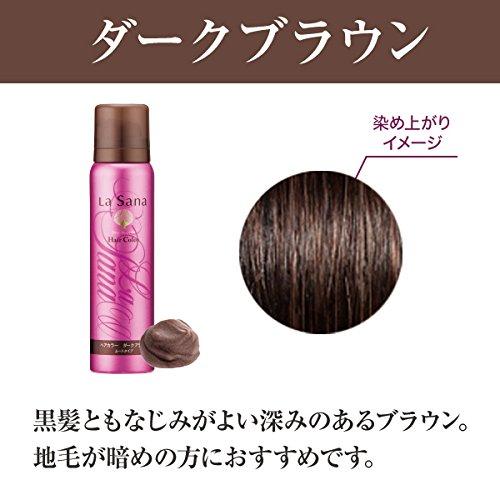 ラサーナLasanaヘアカラームースタイプ白髪染め(ダークブラウン)80gやさしく爽やかな香り[天然色素]