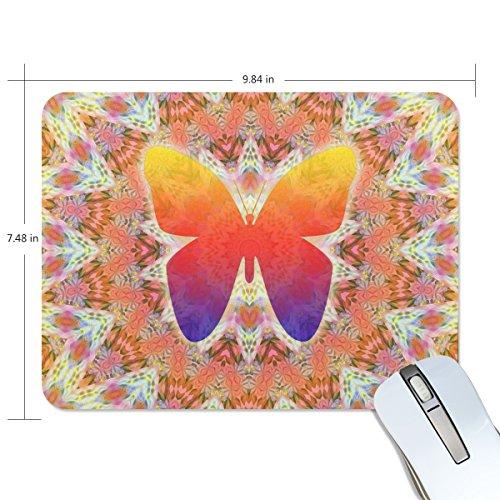 zzkko Schmetterling buntes Blumenmuster indischen Mandala rutschfest 25cm (L) x7.48