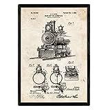 Nacnic Poster con patente de Lampara para locomotoras. Lámi