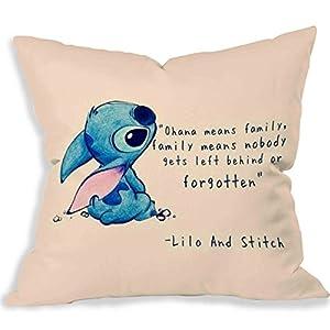 Disney Lilo and Stitch Quote Copy Pillow Case