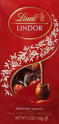 Lindt LINDOR Milk Chocolate Truffles 5 1 oz Bag Pack of 6 product image
