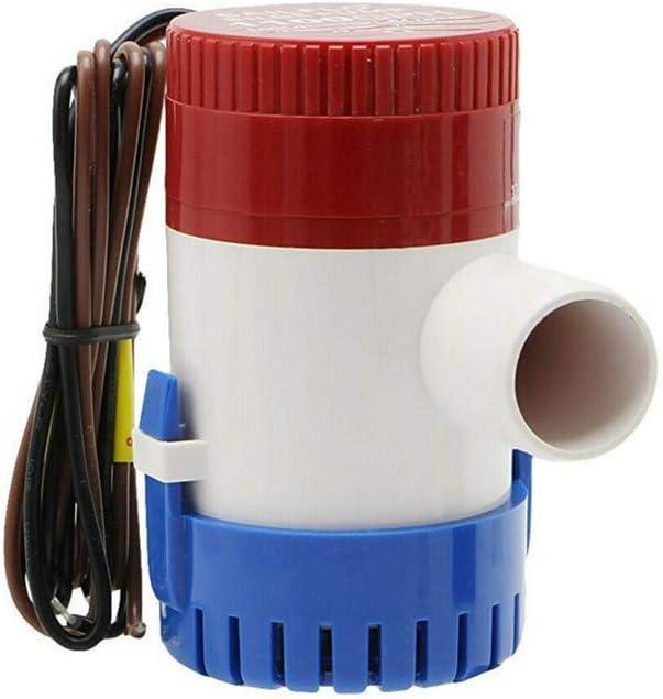 Bomba de agua de sentina automática de 12 V/24 V, opcional 1100 GPH, color azul marino, silenciosa, multifunción, eléctrica, para coche, para barcos de yate (24 V)