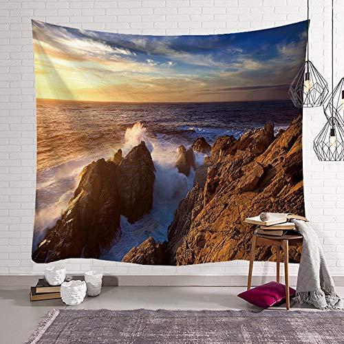 Tapiz para colgar en la pared, diseño de paisaje de la playa