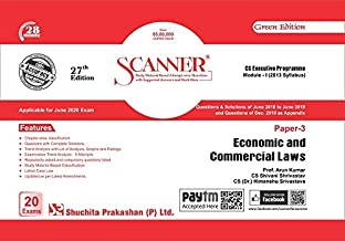 Solved Scanner CS Executive Programme Module-I (2013 Syllabus) Paper-3 Economic and Commercial Laws (Green Edition) (Appli...
