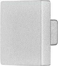 Gedotec meubelgreep zilver kastknop hoekig meubelknop voor laden - STELLA | deurknop groot Ø 25 x 25 mm | commode-knop voo...
