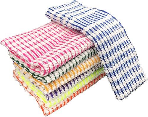 EUROSTYLE strofinaccio Art. Sole canavaccio torcione Asciugamani da Cucina in Spugna di Cotone 6 pz assoriti per Confezione