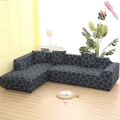 Funda Sofá de 3 plazas Universal Estiramiento, Morbuy Moderno Cubierta de Sofá Cubre Sofá Funda Furniture Protector Antideslizante Elastic Soft Sofa Couch Cover (4 plazas,El fútbol)
