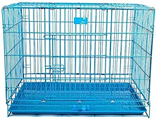 Lovely PET'S KINDOM-Double Door Folding Metal cage with Removable Tray and paw Protector for Dogs,Cats and Rabbits-24' Inc...