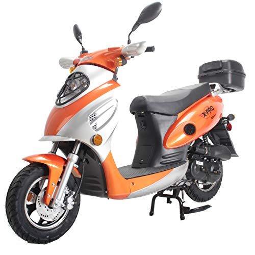 professional X-PRO Oaf 50ccm Moped Scooter Gas Moped Scooter Street Scooter Gas Moped Aluminum Wheel USB…
