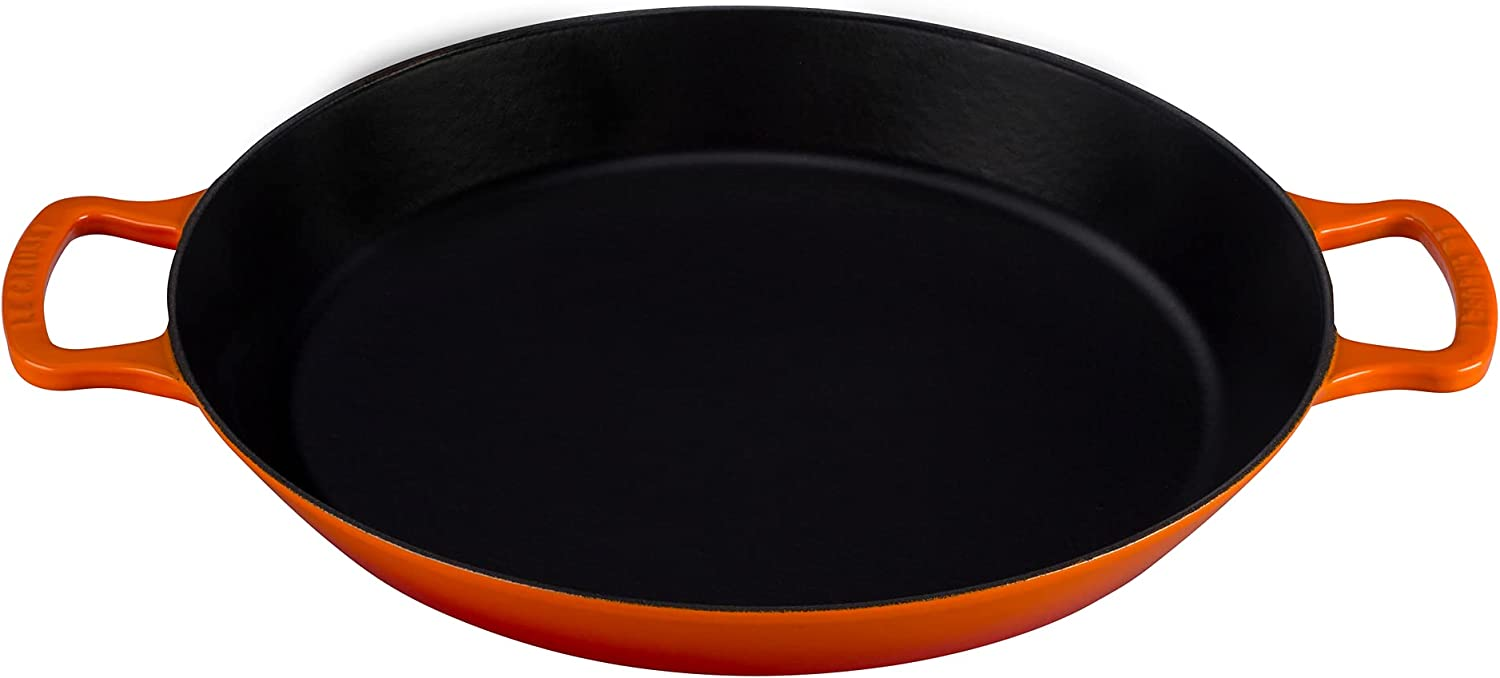 Le Creuset Enameled Cast Iron Pan qt. Flame Portland Mall Paella Selling and selling 3.25