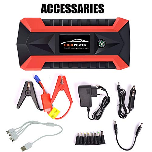 JiuRong 20.000 mAh 12 V Auto Starthilfe Tragbare USB Power Bank Batterie Booster Klemme