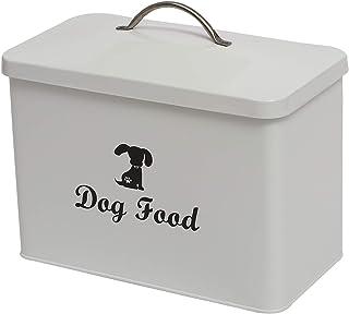 Woof Dog Treat Tin 13 x 9 cm très bon Rectangle Bleu conteneur de stockage Neuf