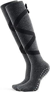Calcetines de yoga Otoño e Invierno Calcetines Largos de Fitness Calcetines Femeninos Tubo Alto Micro presión Correas Antideslizantes Calcetines de Baile (Color : B)