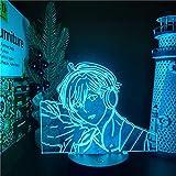 Anime Lights 3d Led, Dato Mafuyu 3d Led Anime Lamp Illusion Lighting 7 Lampada Da Tavolo Con Luci Notturne Che Cambiano Colore, Decorazione Della Casa